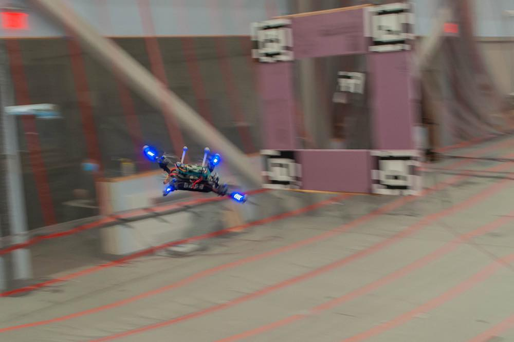 drones avoiding obstacles at high speeds