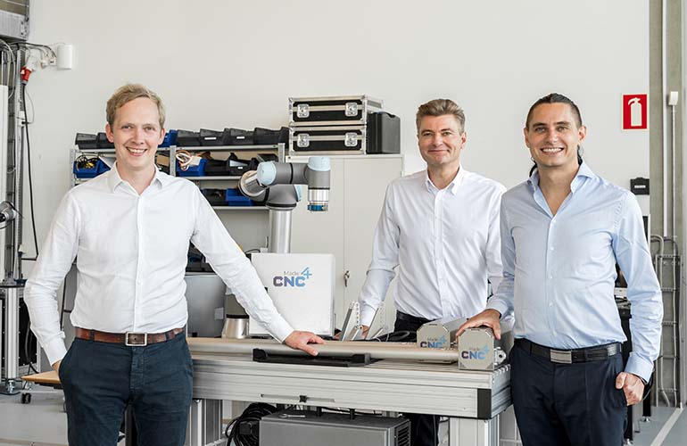 group shot of the Made4CNC founders.